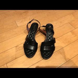Cole Haan black wedge sandals size 7 1/2